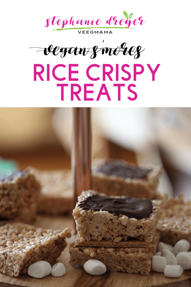 Vegan S'mores Rice Crispy Treats