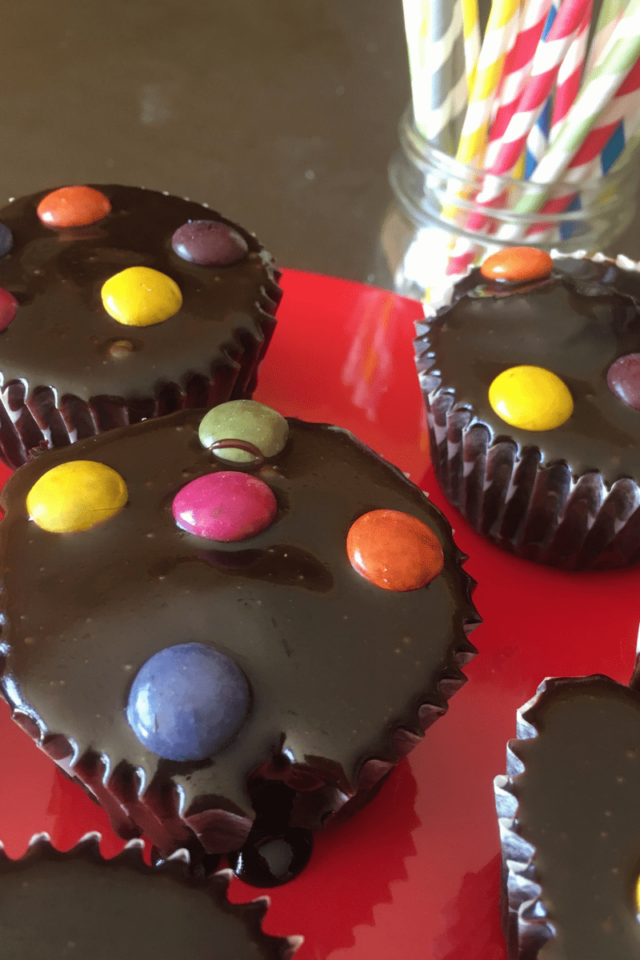 These M&M Chocolate Cupcakes are easy and delicious, made with some of my favorite pre-made ingredients, including Julie's Original baking mixes.