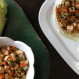 These Tofu Lettuce Wraps are an easy family friendly weeknight dinner. Serve alongside steamed rice and let the family have fun wrapping and eating!