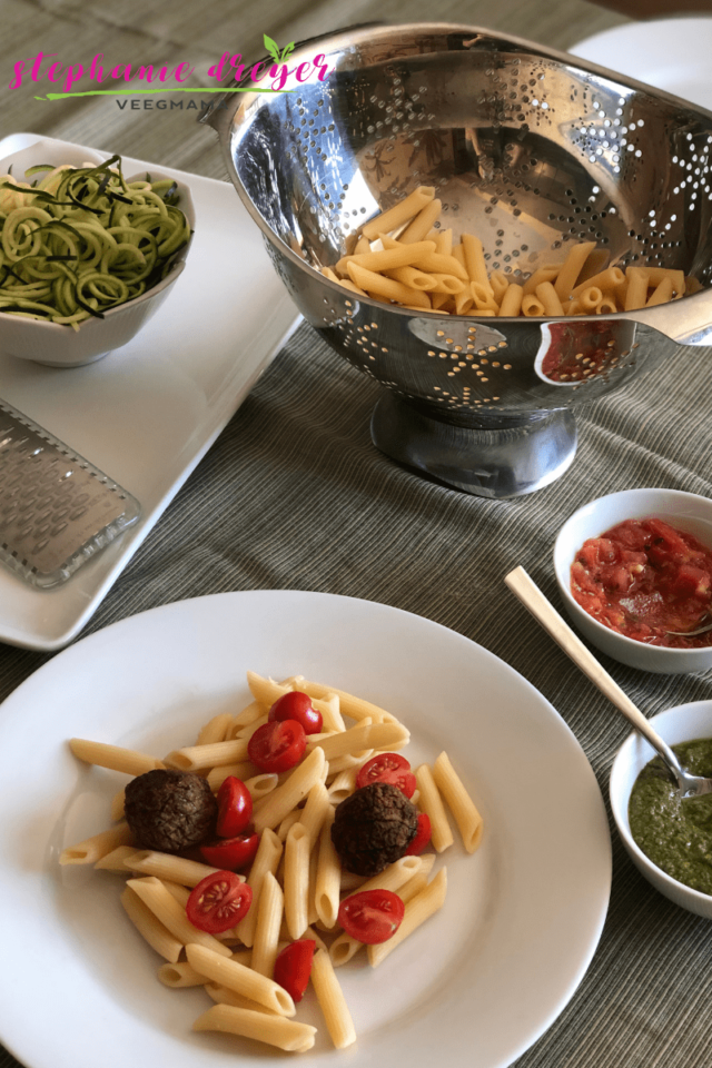 Get a homemade meal on the table that your whole family will love with this easy pasta bar using Trader Joe's sauces and your favorite toppings.